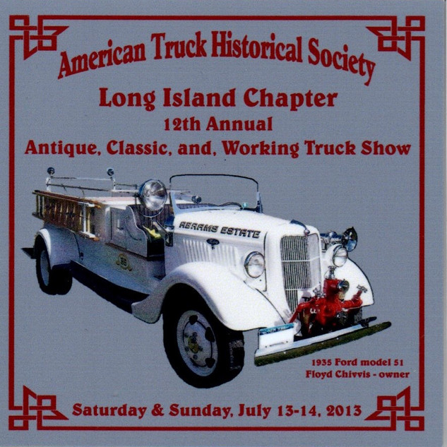 2013 Chapter Truck Show Dash Plaque 32 Remaining - .50ea.