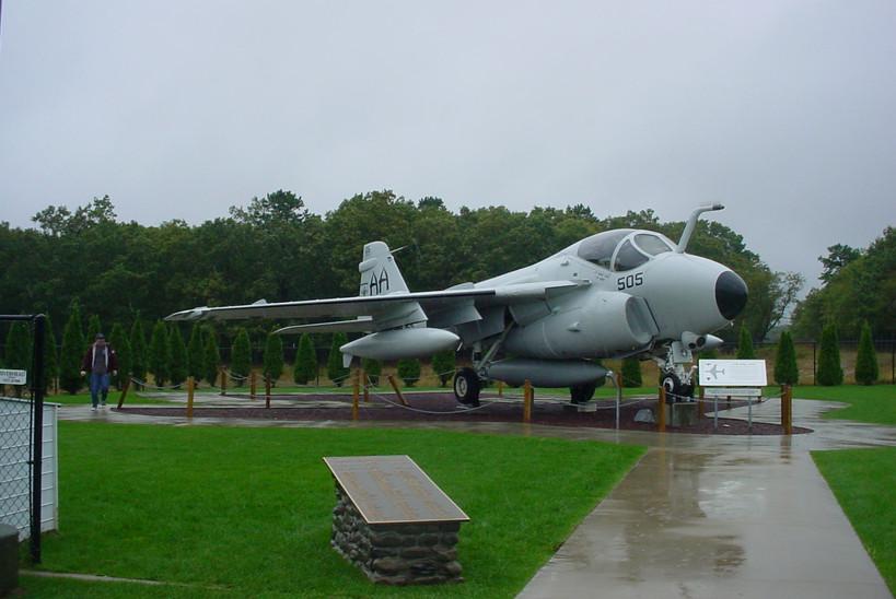 Grumman A-6E Intruder at first stop Grumman Memorial Park