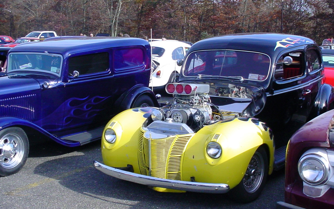A pair of street rods