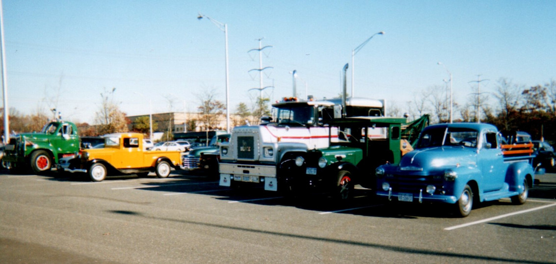Member's trucks at Food & Toy Drive Show
