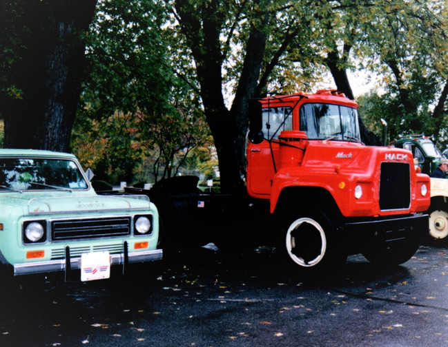 Member's trucks at Stony Brook Villaage parking lot