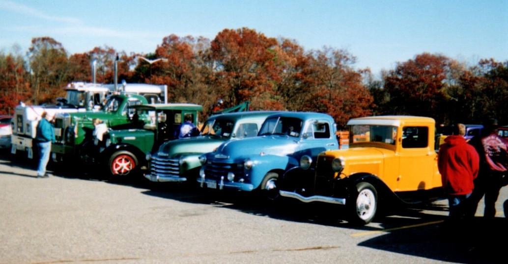 Members trucks on display