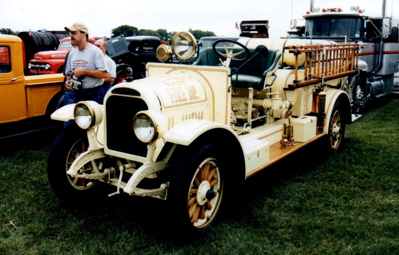 Phil Huntington's 1923 Brockway fire engine