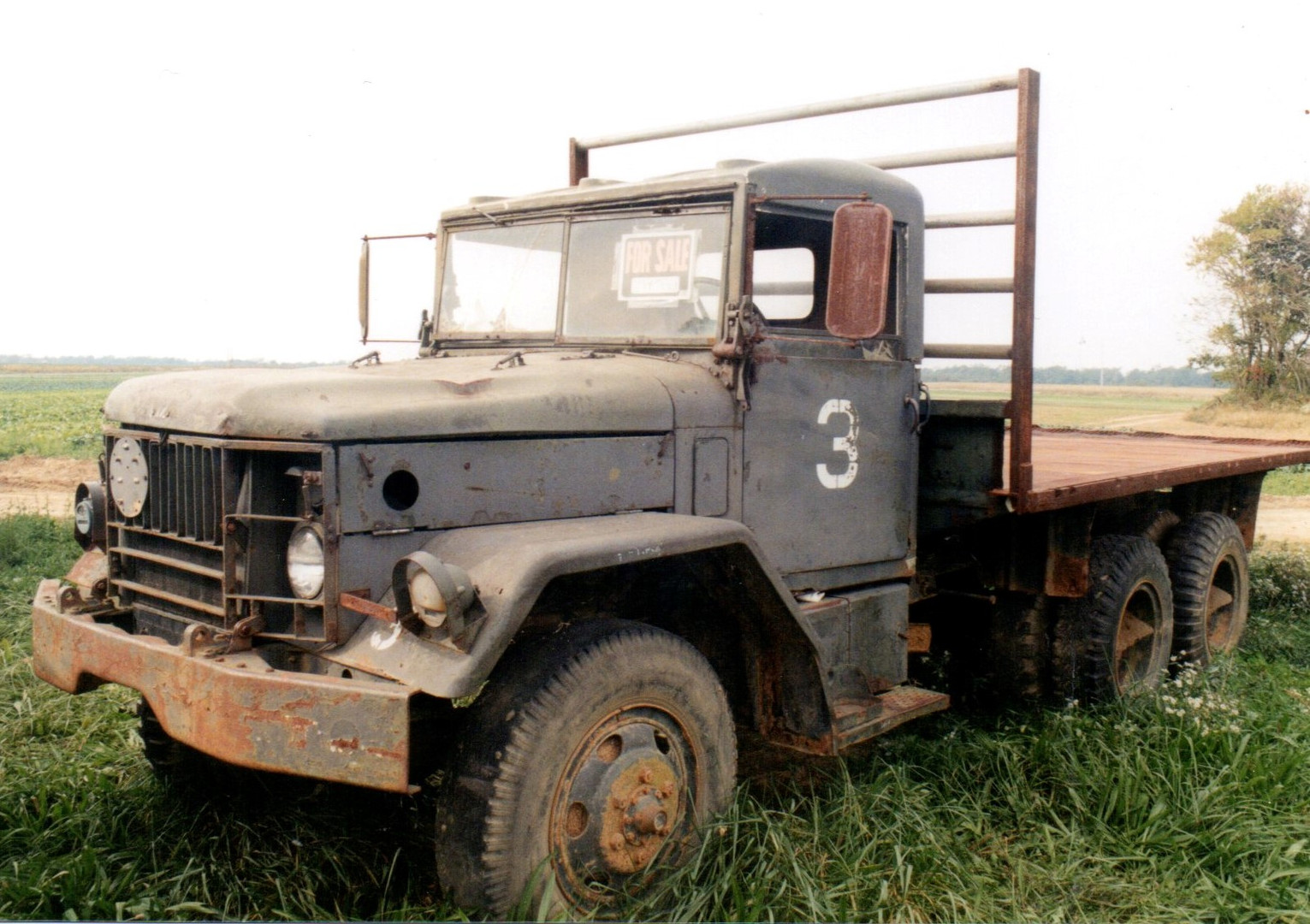 An old Army truck for sale at Punkinville