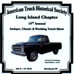 2016 Chapter Truck Show Dash Plaque 43 Remaining - .50ea.