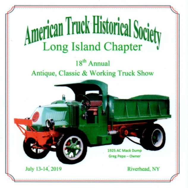 2019 Chapter Truck Show Dash Plaque 22 Remaining - .50ea.