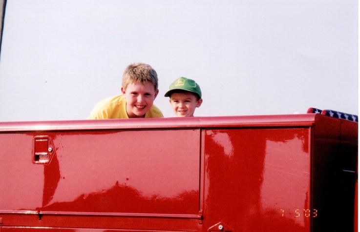 A young Dan Ryan & a young Philip Kenter enjoying the show