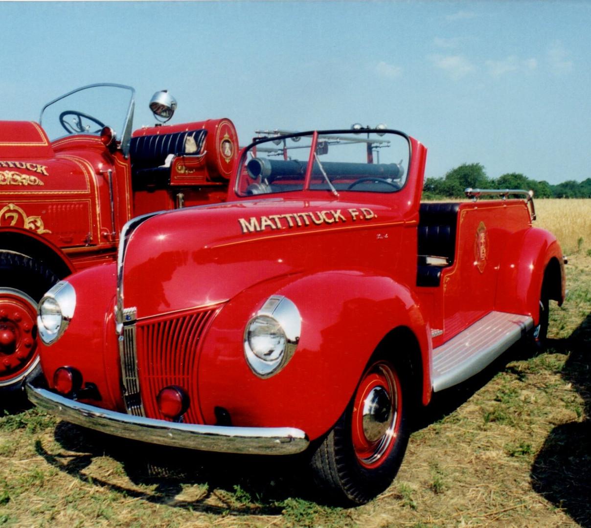 """1940 Ford F.D. racing """"B"""" truck - Mattituck F.D."""