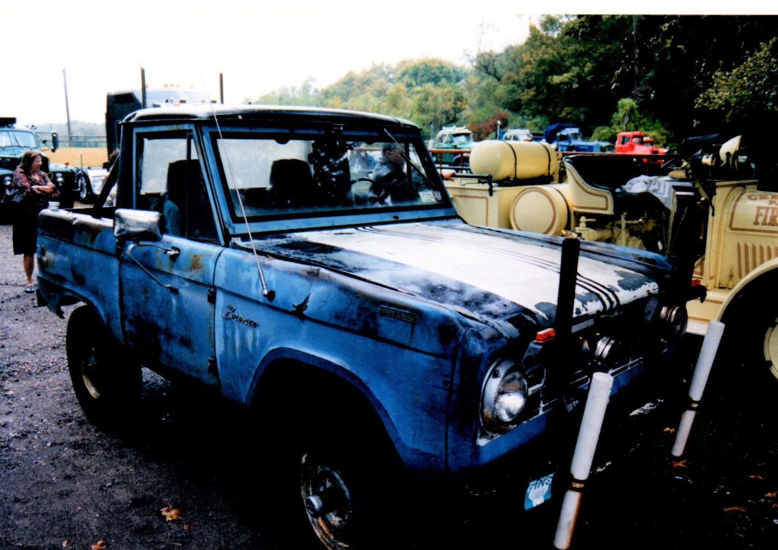 Ron Bruschi drove his 1966 Ford Bronco after the rains came