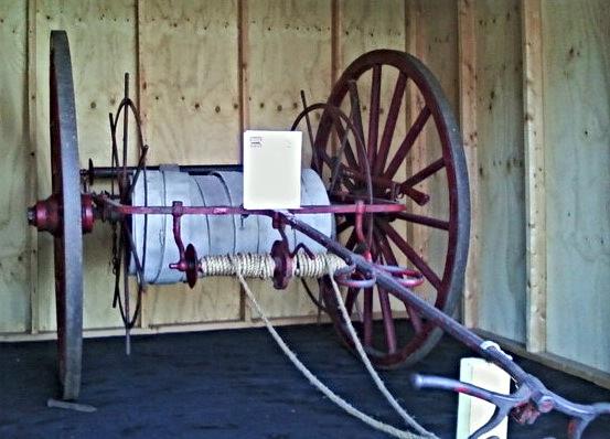 Ex Long Island Railroad hand drawn hose cart