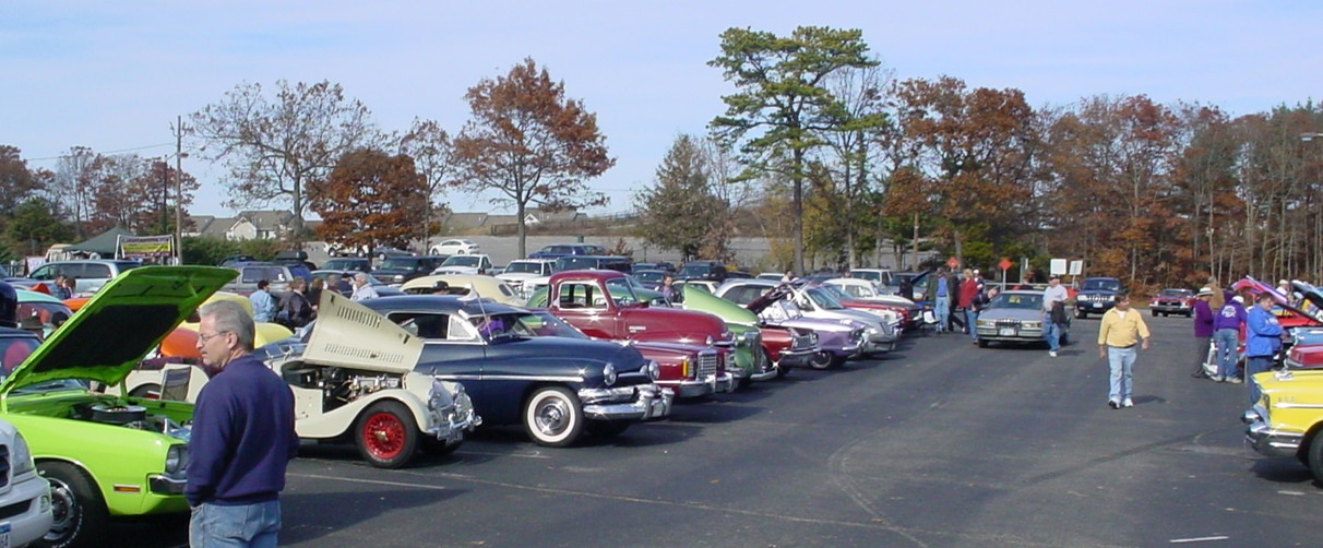 Part of the large turnout of antique vehicles