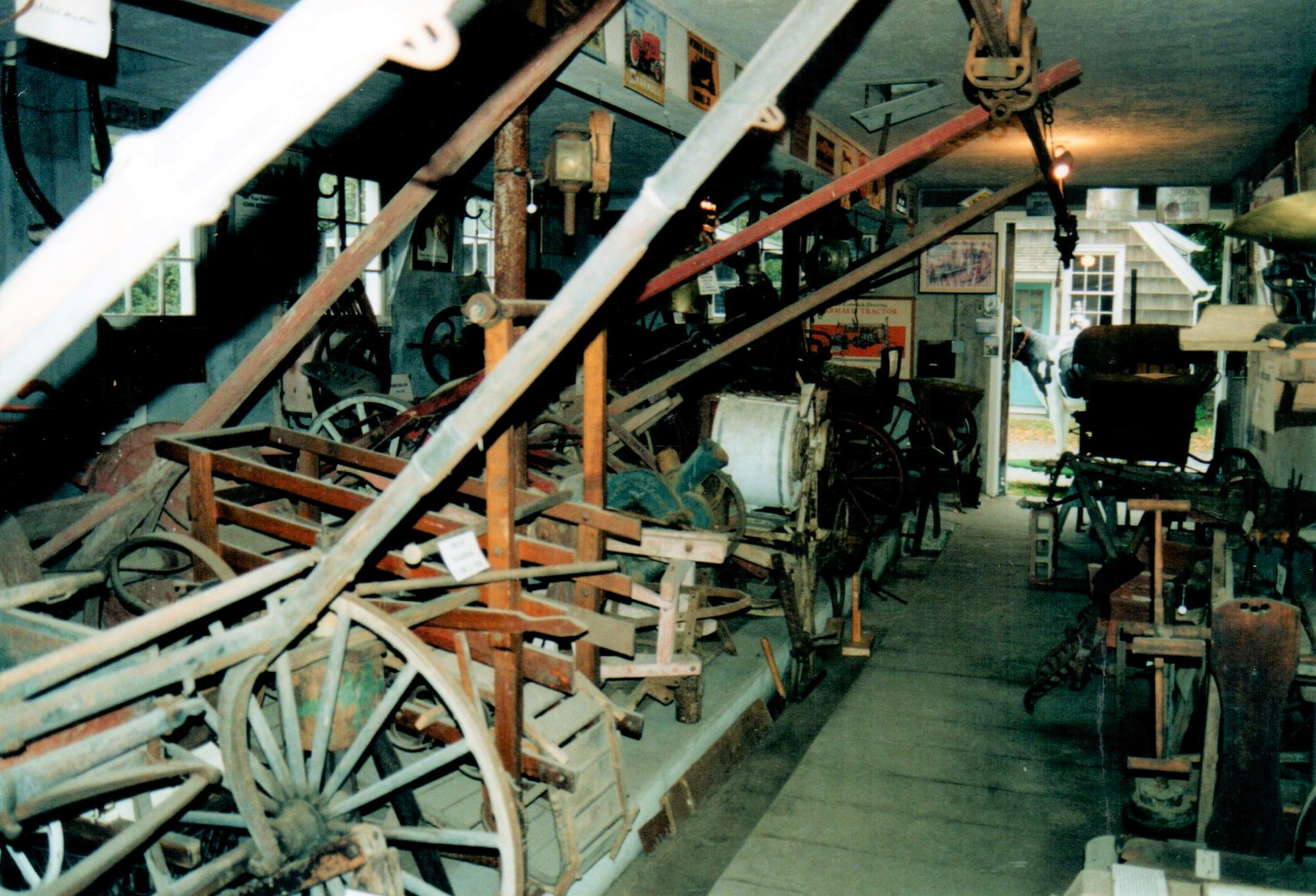 Antique farming impliments in the museum
