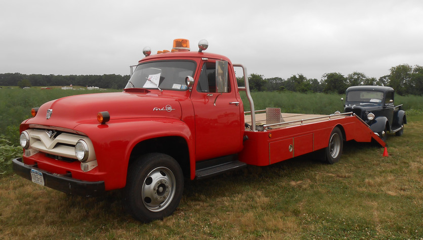 1955 Ford flatbed & 1936 Ford pickup - Floyd Chivvis