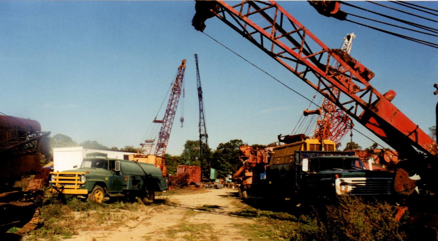 Old trucks & cranes