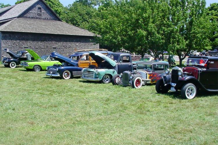Line up of cars & trucks