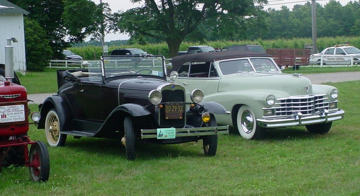 Ford Model A & Cadillac