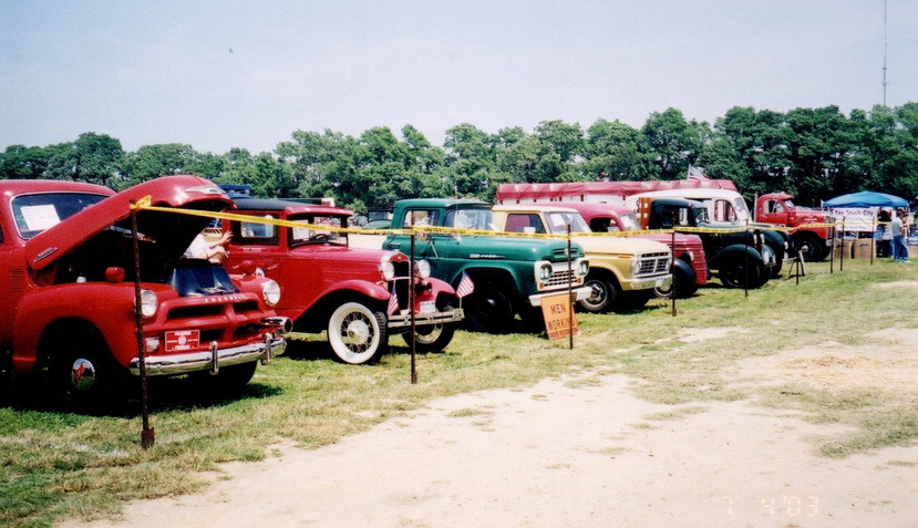 Trucks on show field