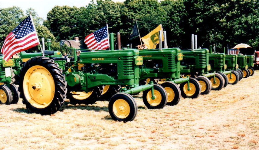 Line up of John Deere's