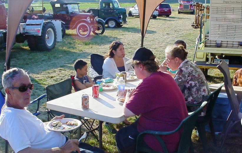 Members at the chapter family picnic