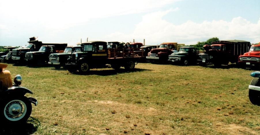 Field of show trucks