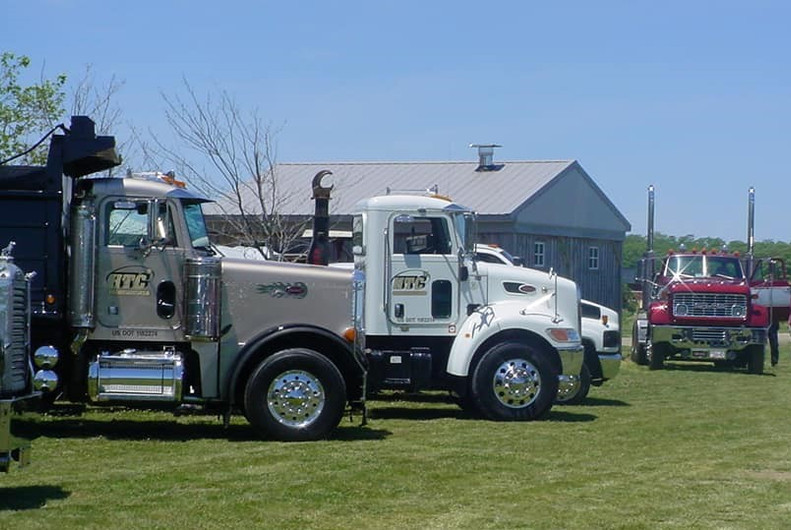 Trucks on display