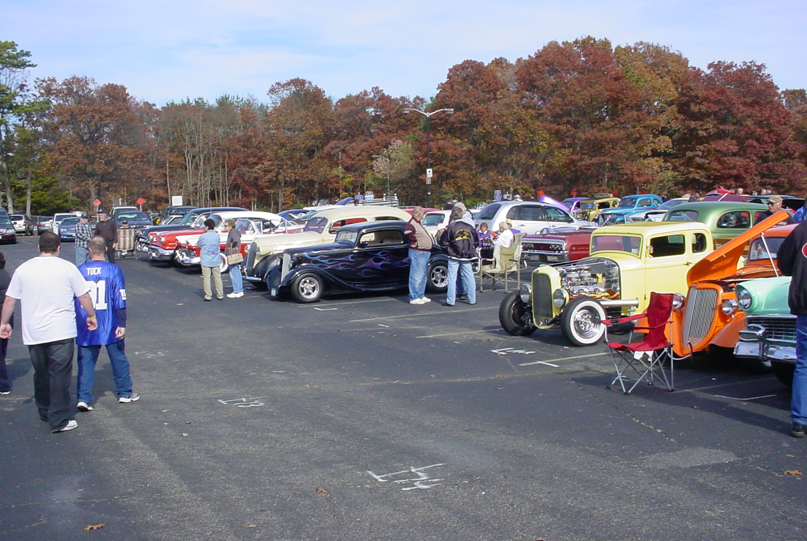 Street Rods along with stock vehicles at the show