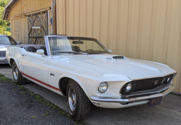 Janet Lowry-Simon's 1969 Ford Mustang convertible