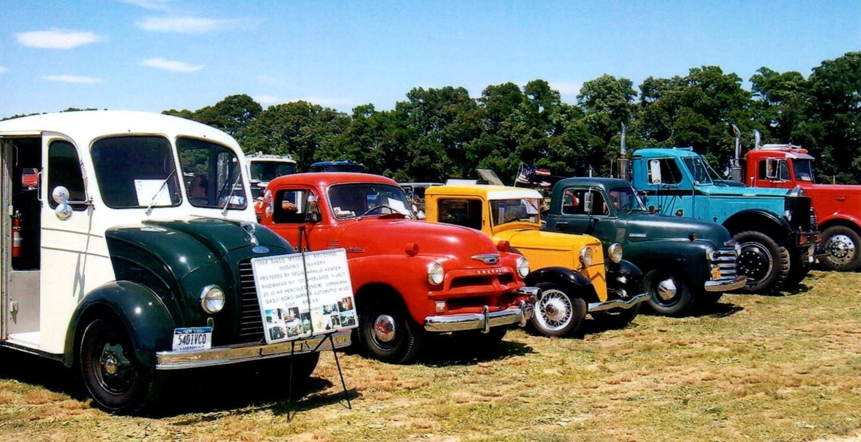 Trucks on the show field
