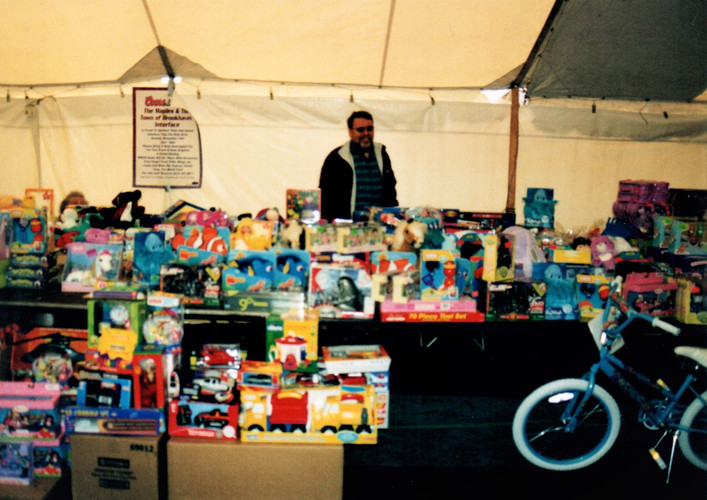 Lots of toys were collected for the children