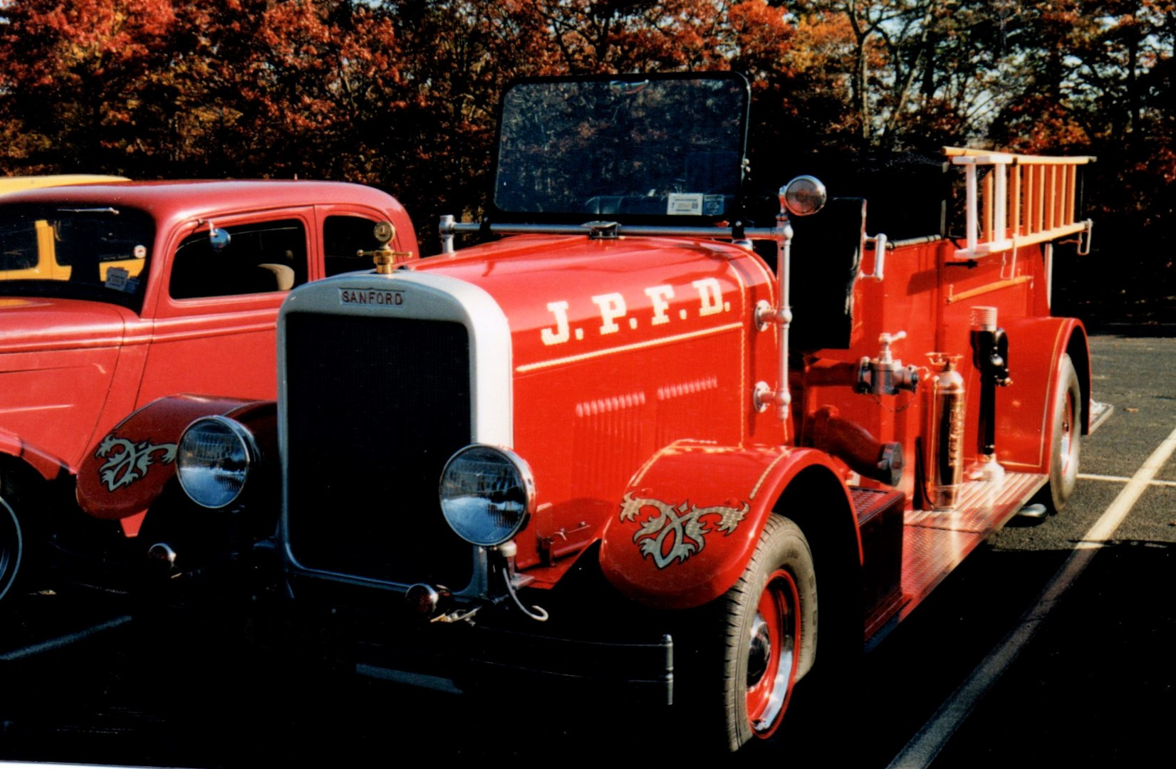 Walter Reutlinger's 1932 Sanford fire engine