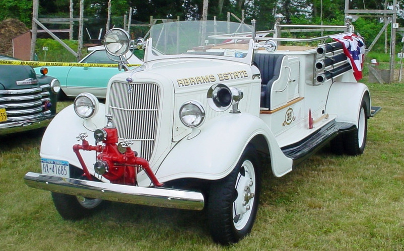 The featured show truck, Floyd Chivvis' 1935 Ford pumper