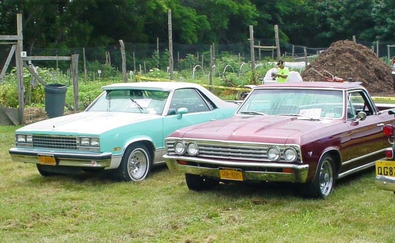 A pair of Chevrolet ElCaminos