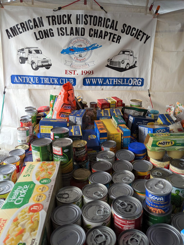 A small portion of the food collected