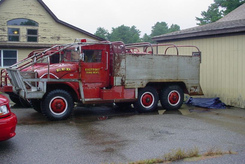 Former Eastport F.D. brush truck at museum
