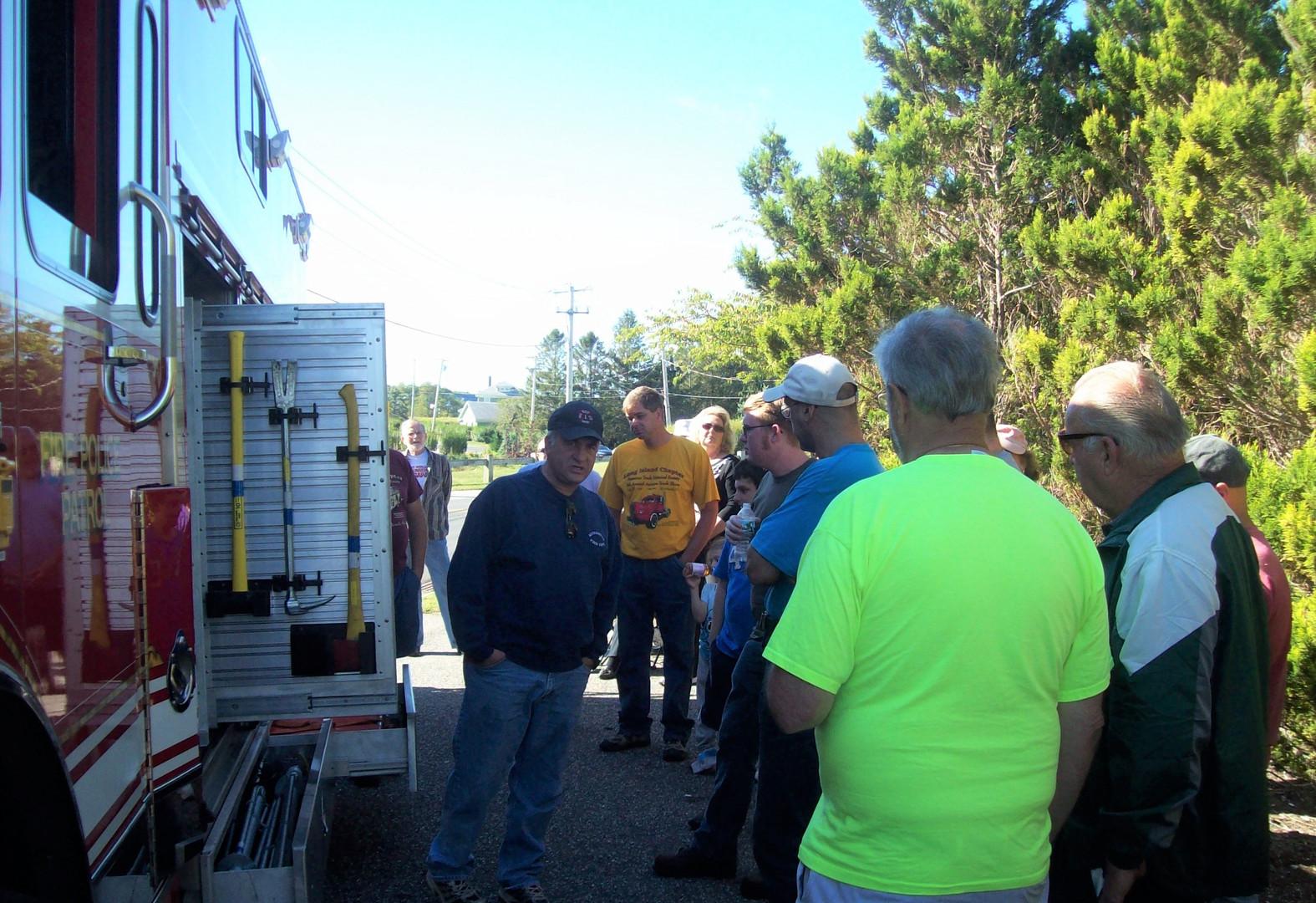 Riverhead F.D. truck demonstration