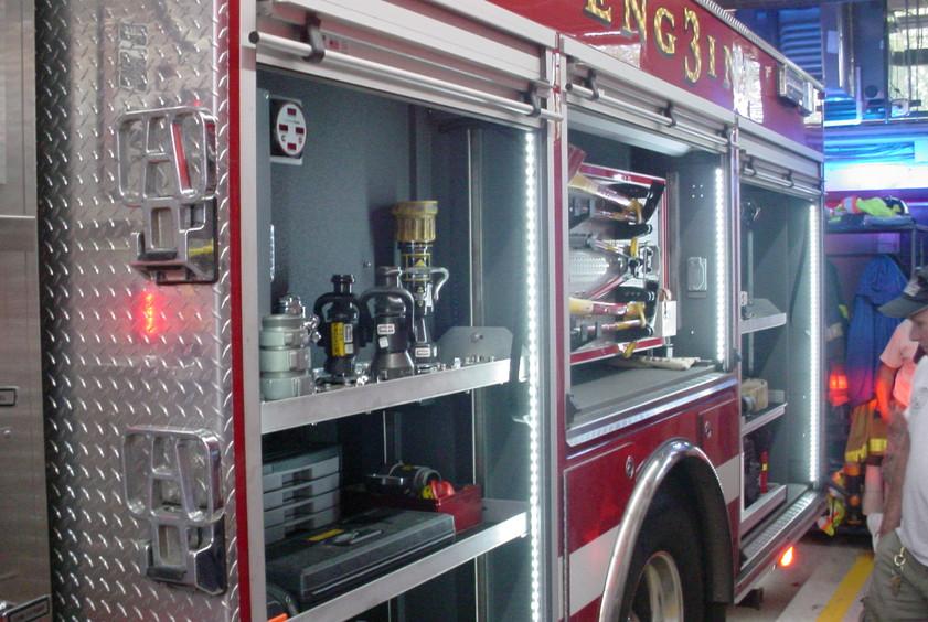 Modern Firefighting Equipment at Second stop - Smithtown F.D.