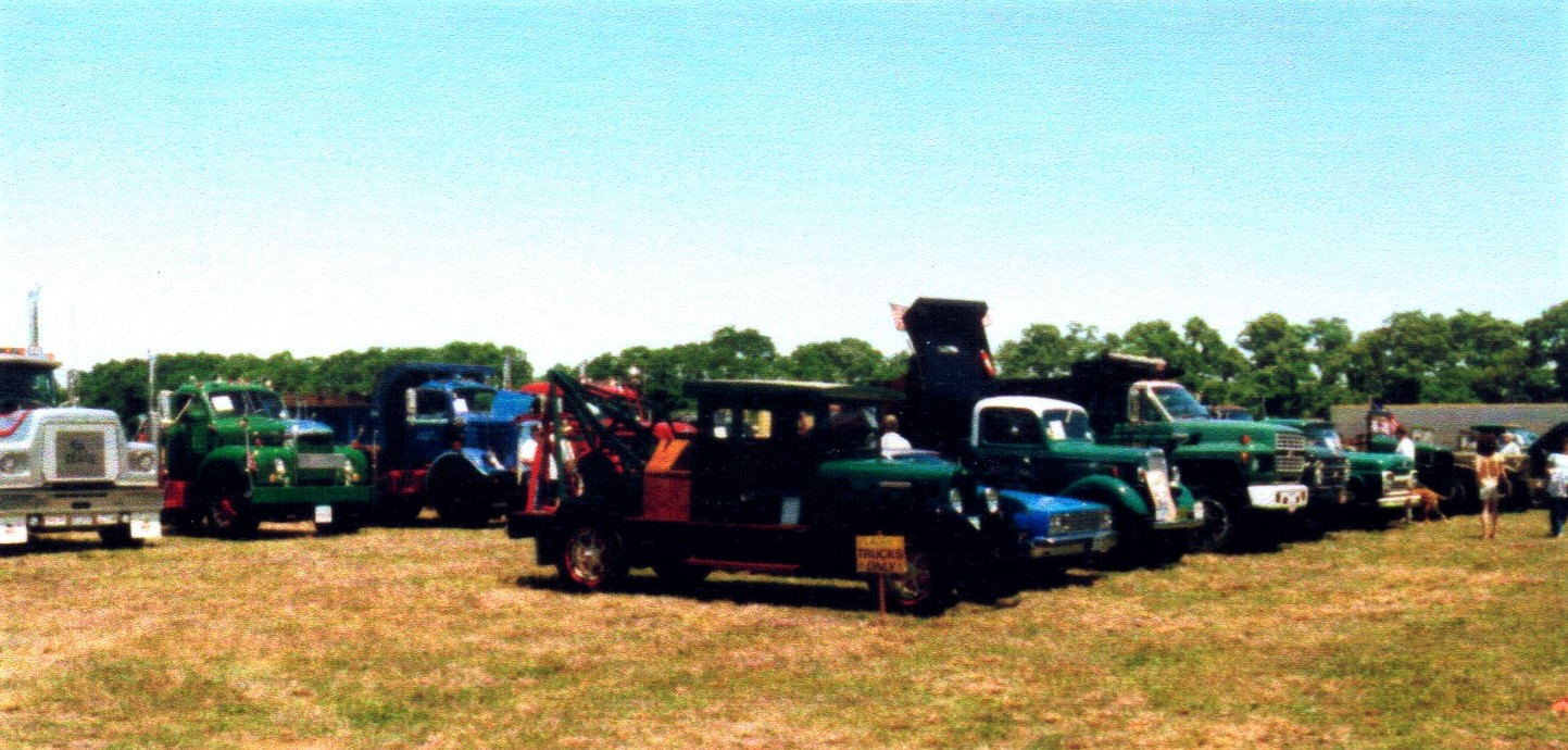 Show trucks on the field