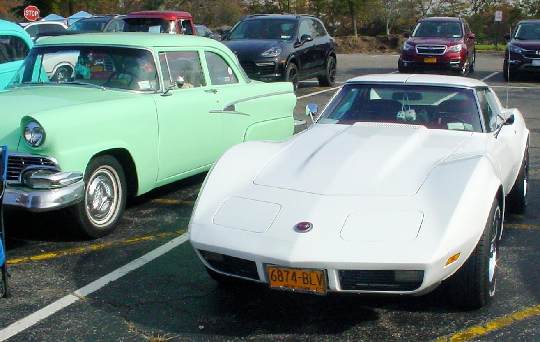 1956 Ford & a Corvette