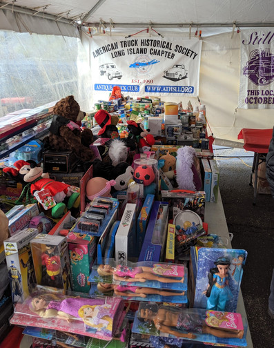 A small portion of the toys collected