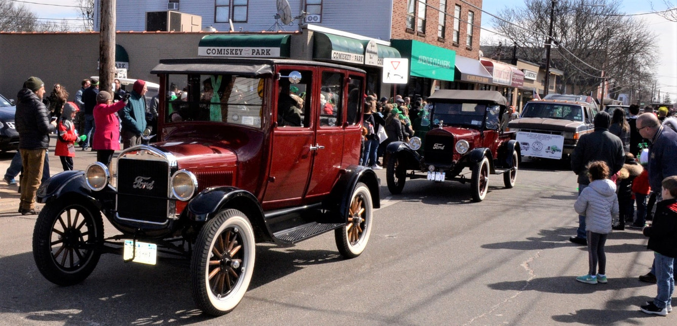 Member's vehicles in the parade