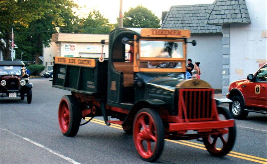 Tony Guarnaschelli's 1925 AB Mack followed by Joe Tavernese's 1926 Ford pickup