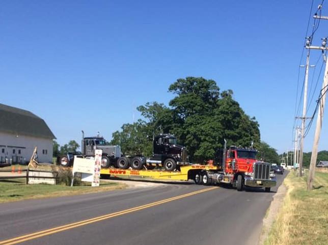 Trucks heading back to New Jersey