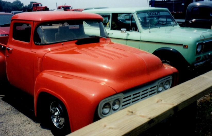 Ron Meyer's 1956 Ford pickup &  John Hoffmann's 1979 International Scout II