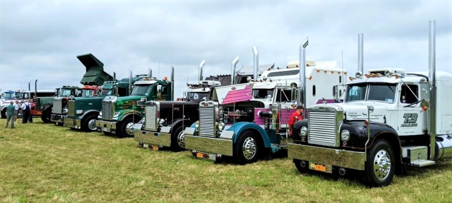 Trucks of all years on display