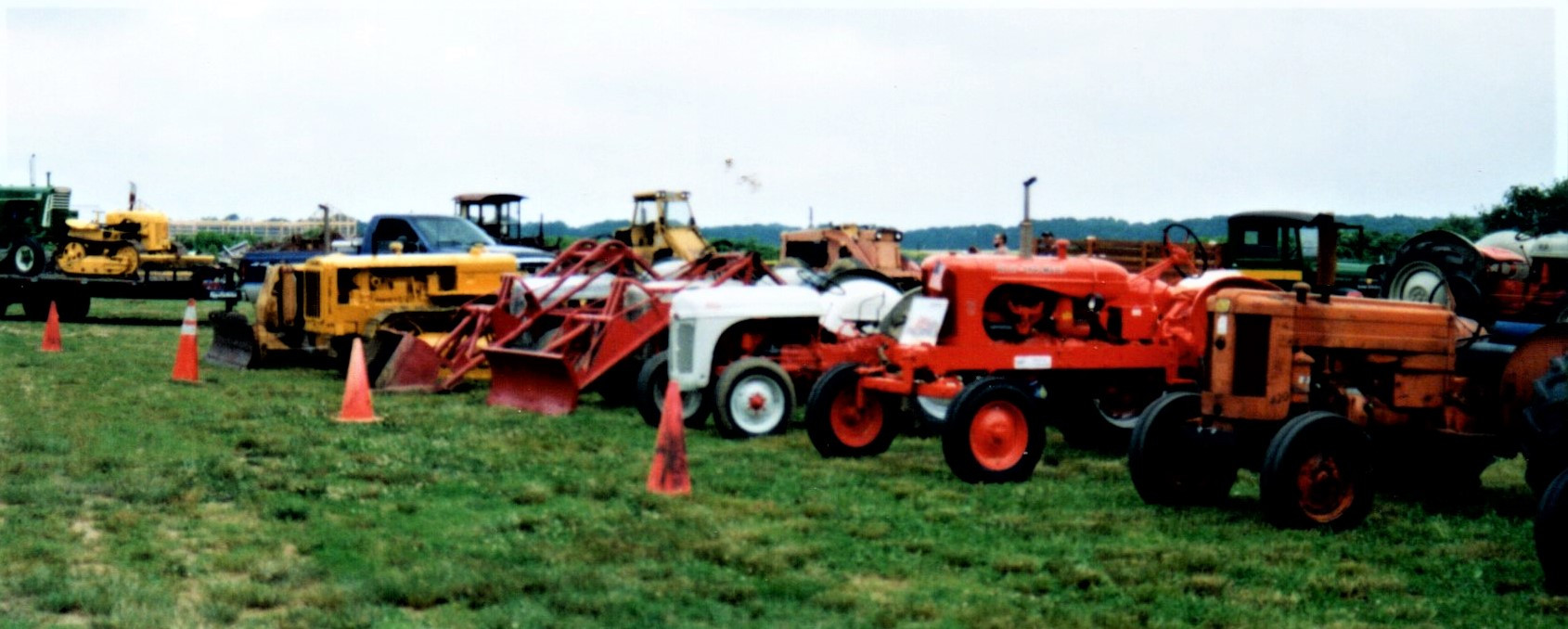 Tractors on the field