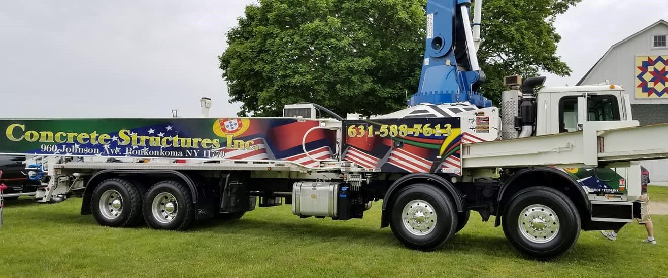 Mack concrete pumping truck