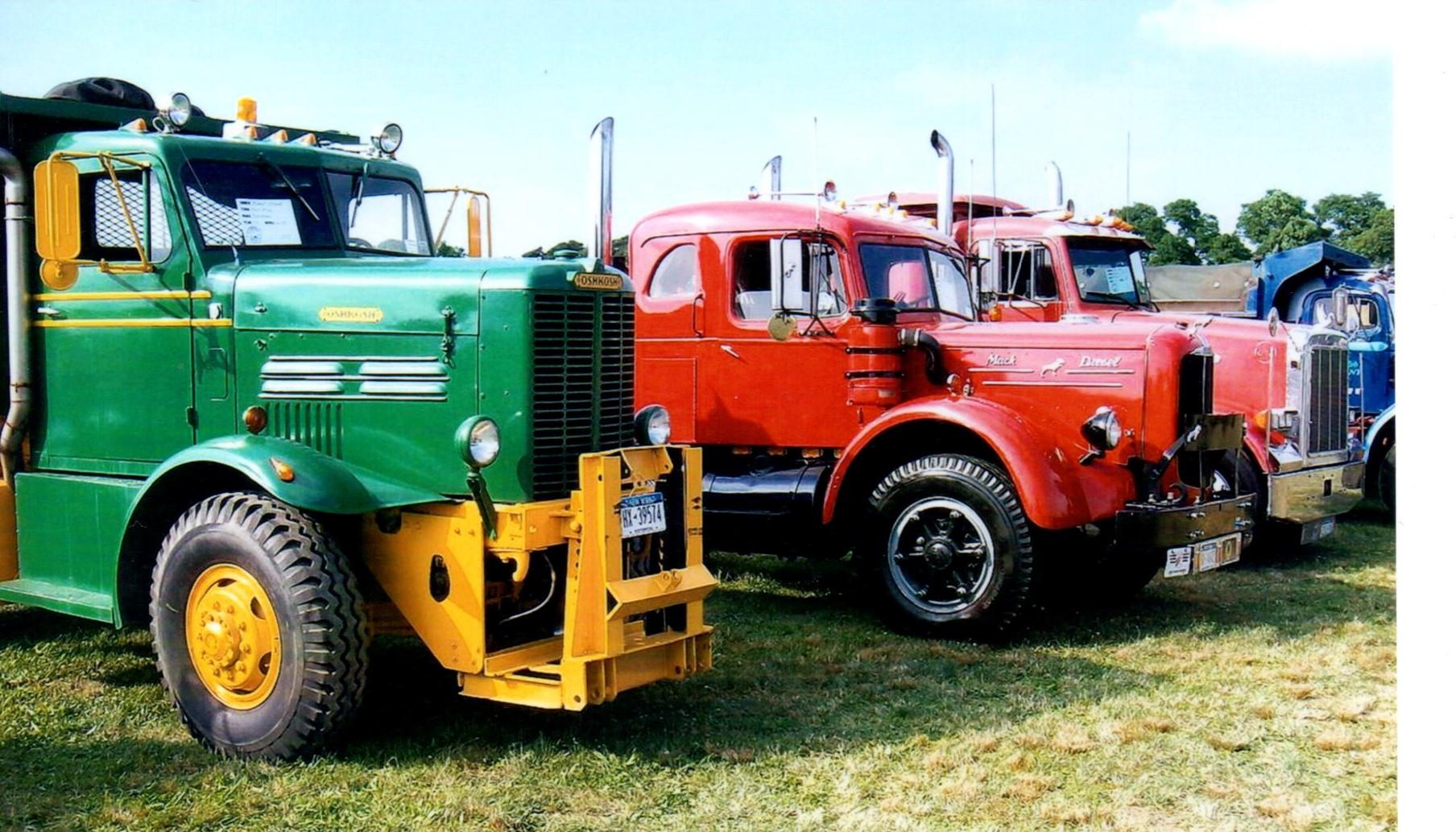 Show trucks on the field