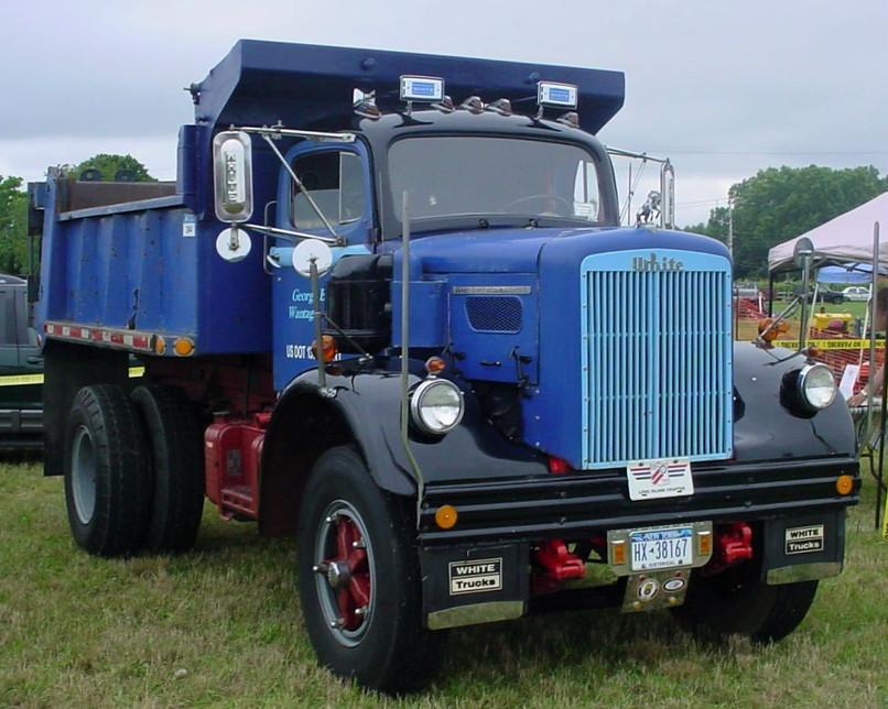 Featrued Truck - George Erb's 1961 White 9000TS dump