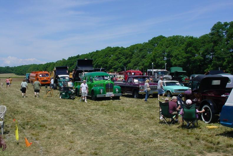 Trucks on show field