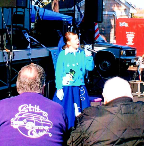 10 year old Kayla Starr performing for the spectators